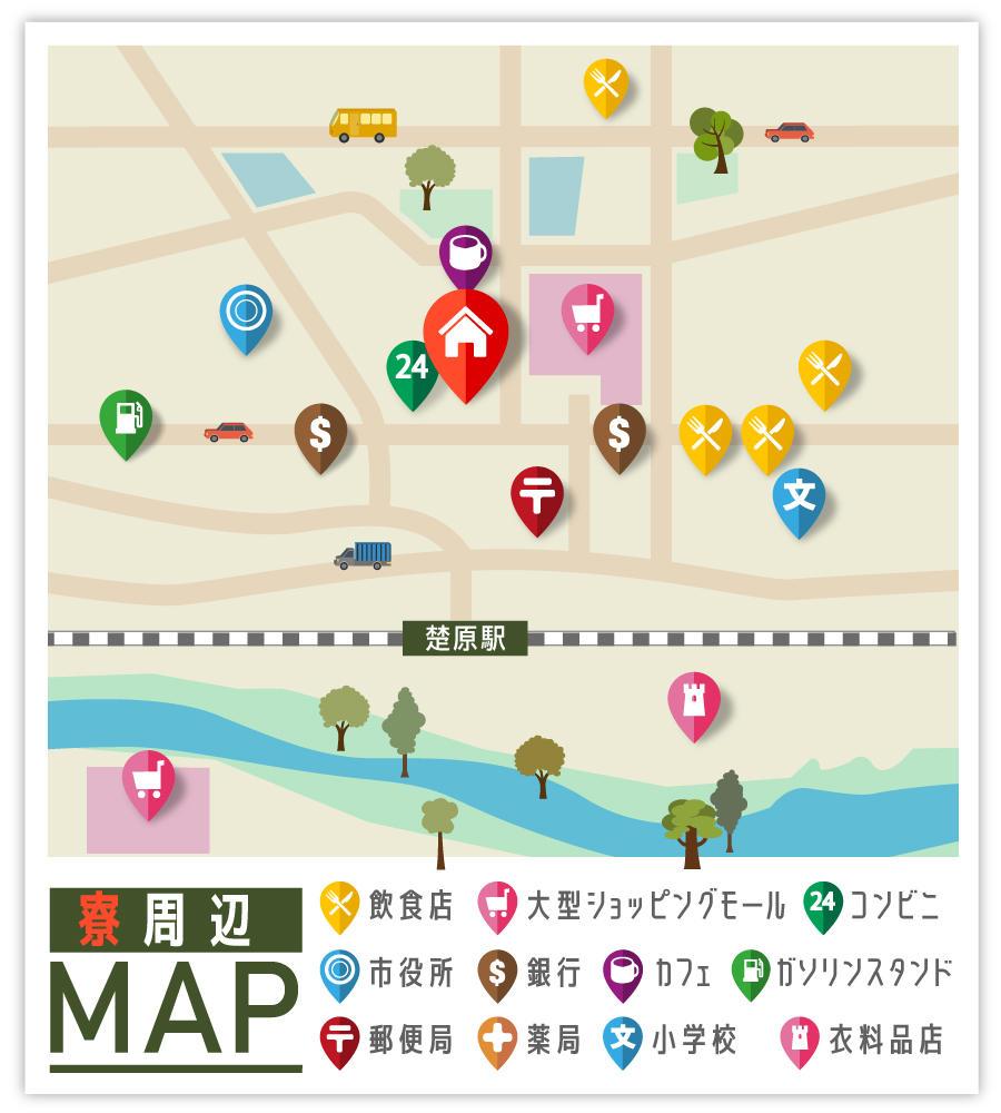 三重県の派遣寮のマップ